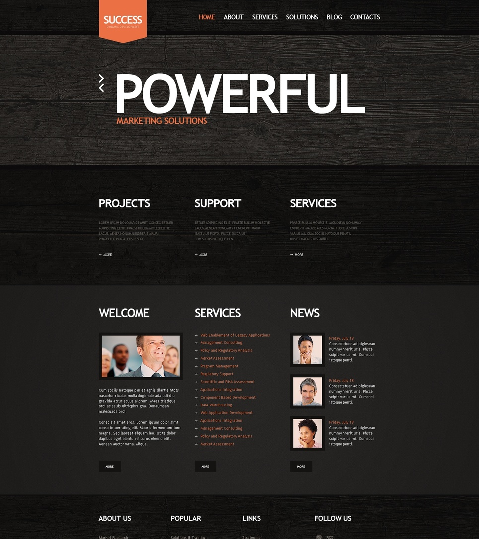 Dark Brown Website Template for Business - image