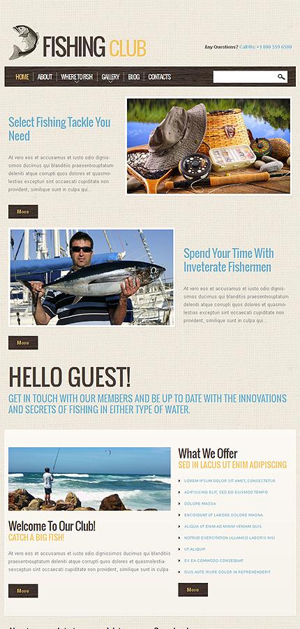 рыболовные шаблоны joomla