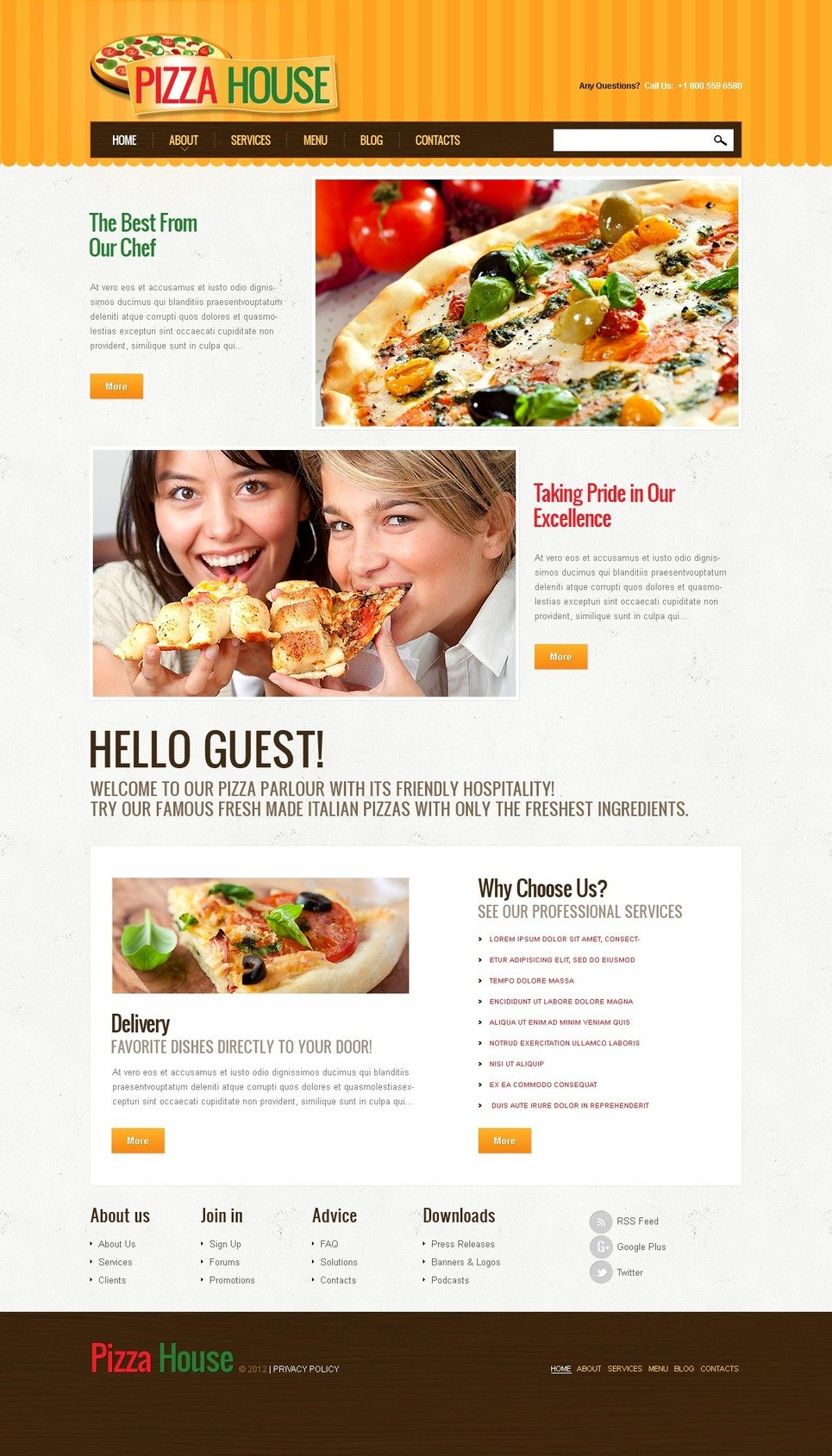 Amazing Pizza Responsive Joomla Template