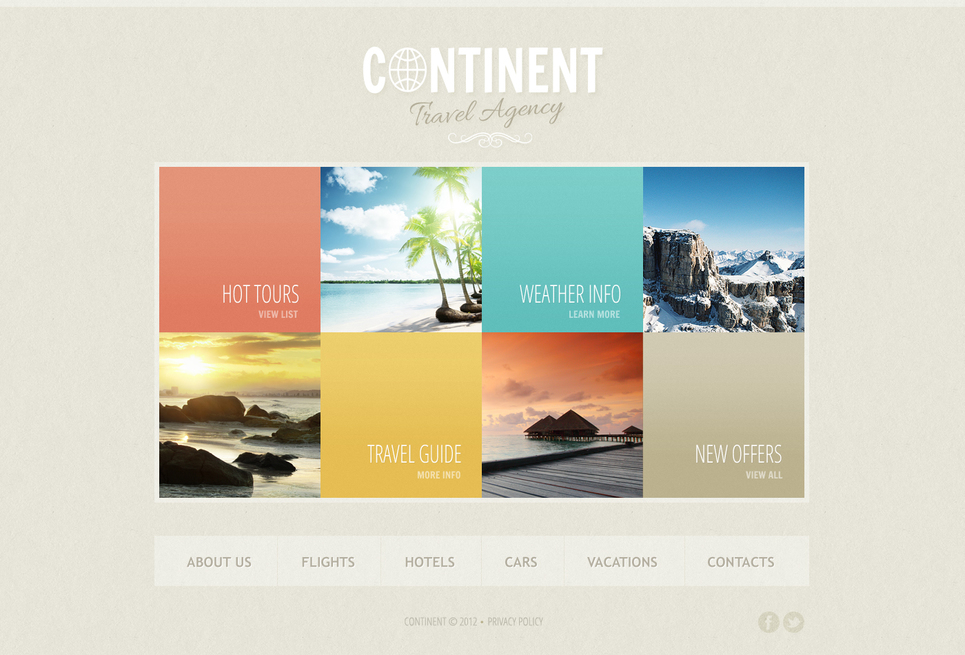 Website Template for Travel Agencies - image