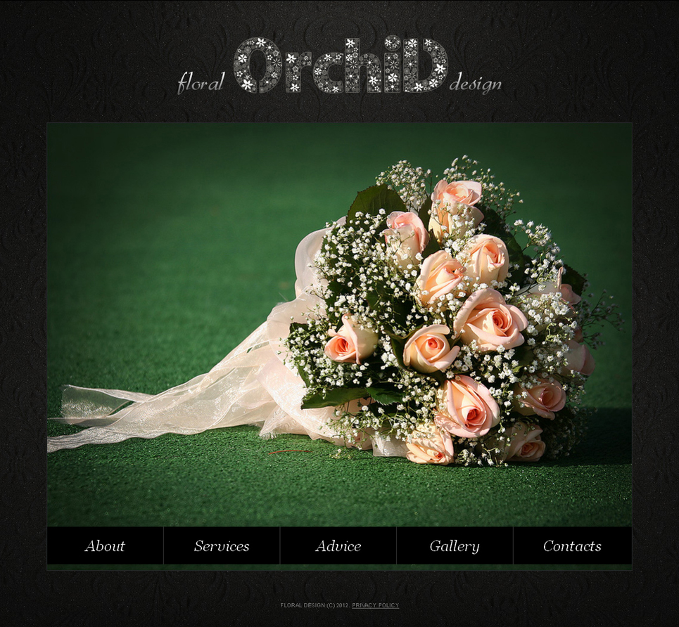 Flowers Website Template with a Grid Photo Gallery - image
