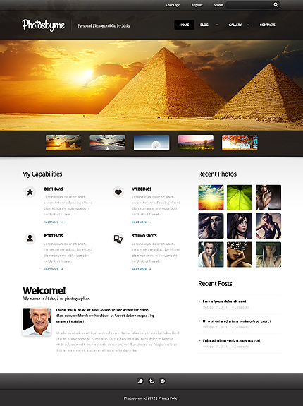 Photosloyme - Best Photographer Portfolio WordPress Theme