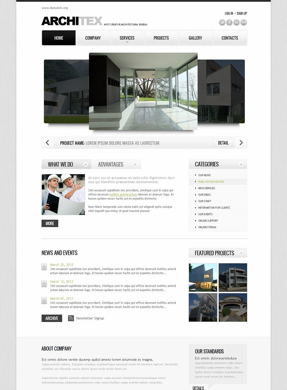 Creative Flash Template for an Architectural Bureau - image