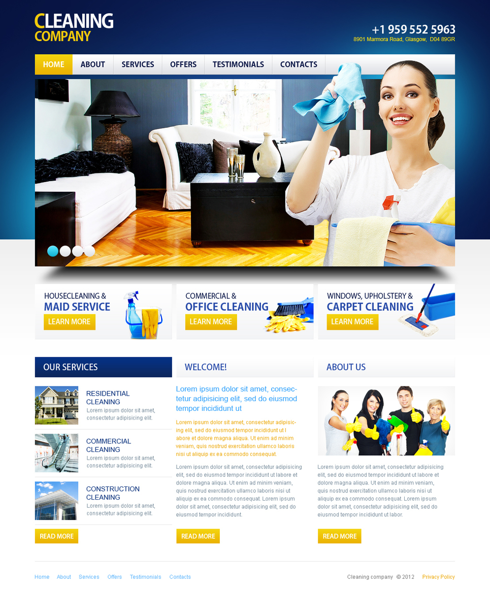 Cleaning Company Flash Template - image