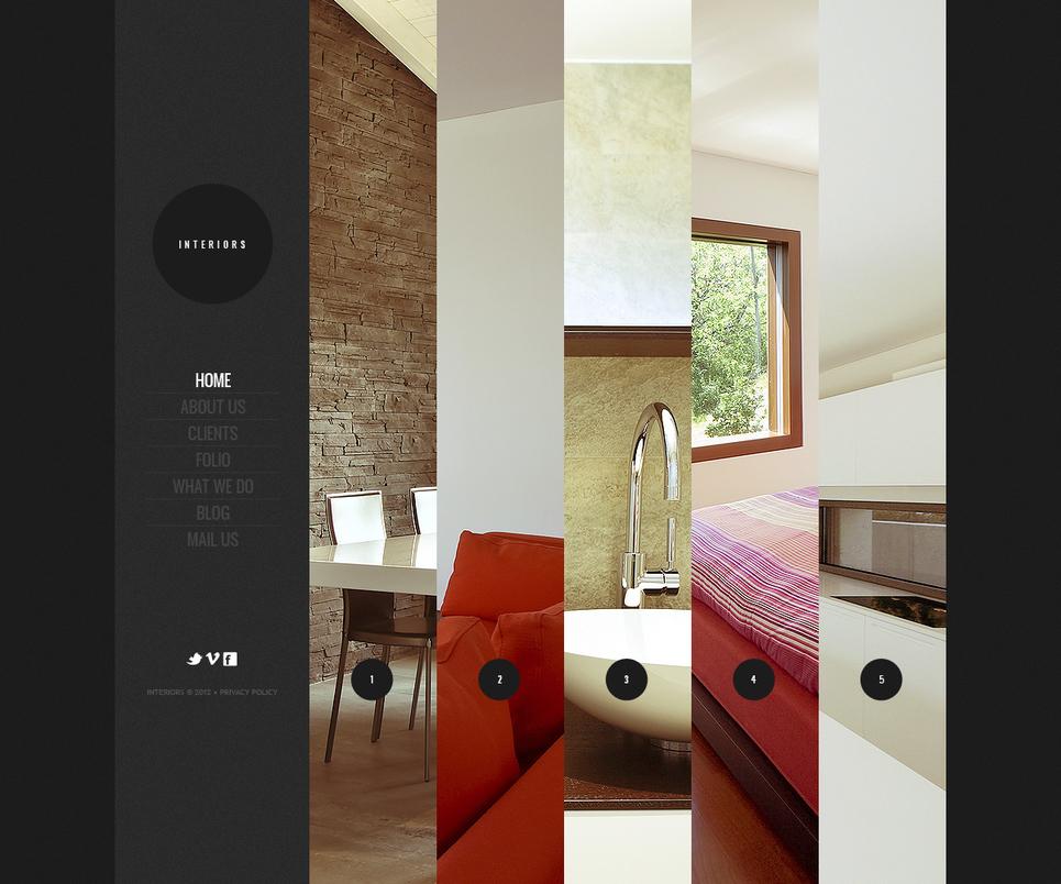Convenient Flash Template for an Interior Design Studio - image