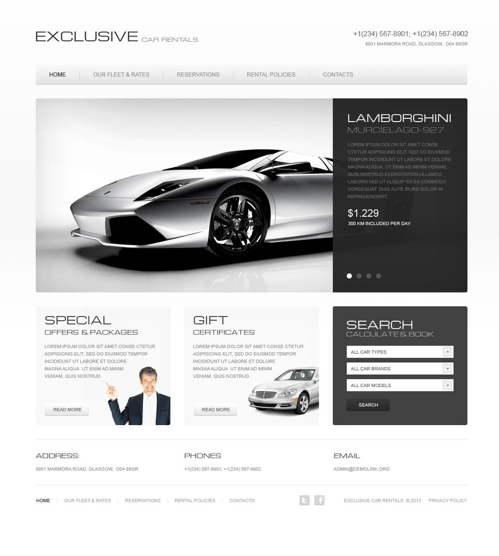 Car Rentals Flash Template - image
