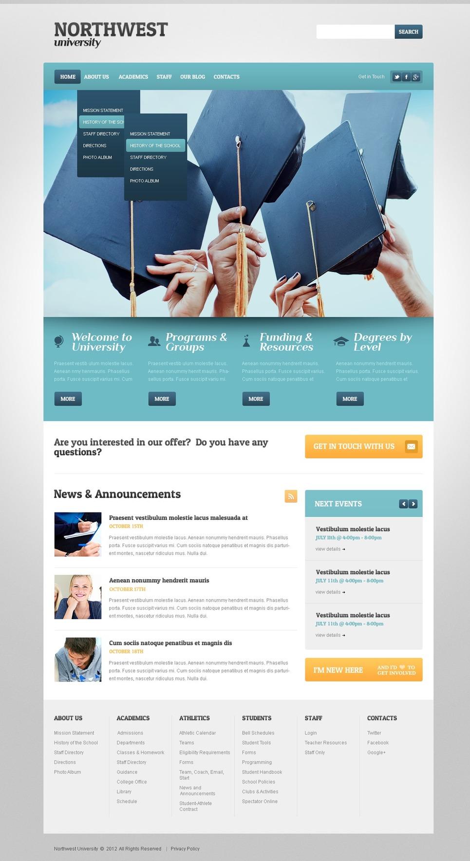 University Responsive WordPress Theme New Screenshots BIG