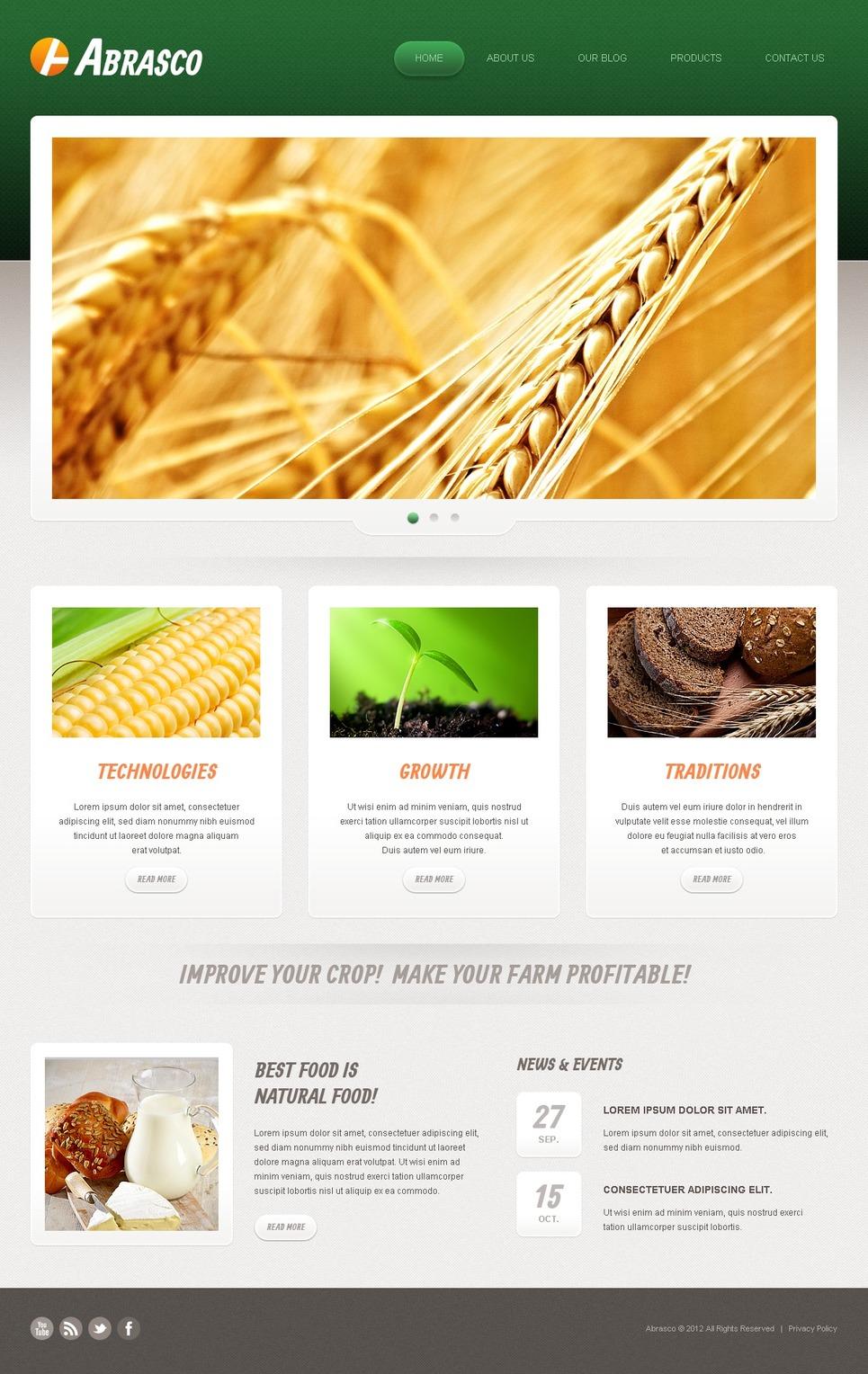 agriculture brochure templates free - free premium responsive agriculture joomla templates