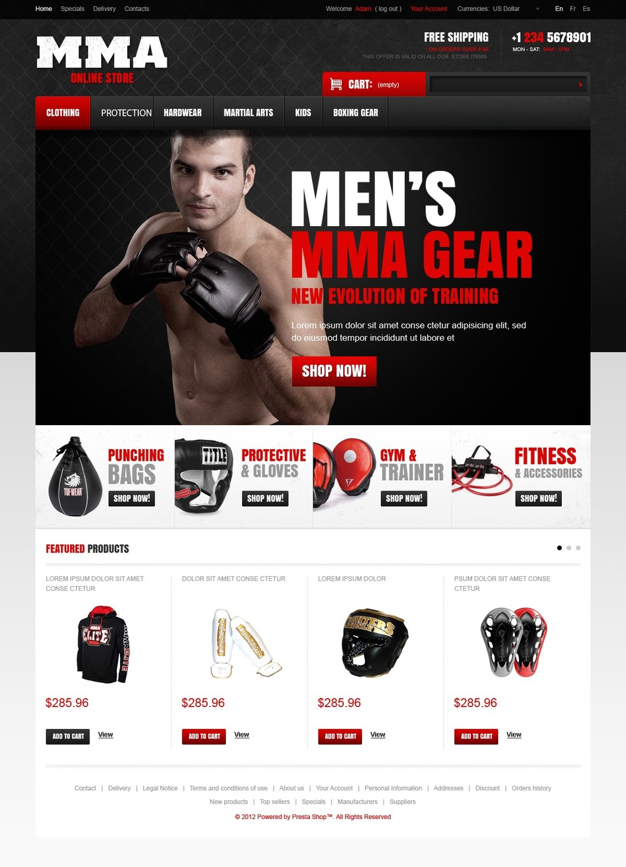 Perfect Martial Arts Store PrestaShop Theme
