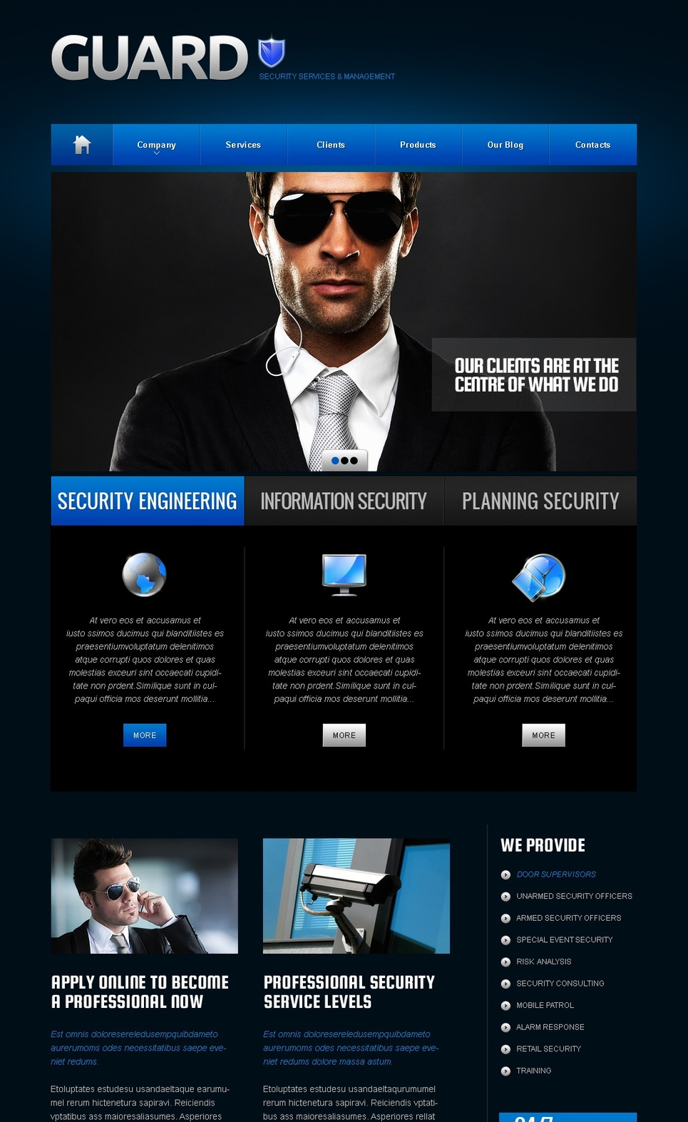 security company brochure template - security moto cms html template 41439