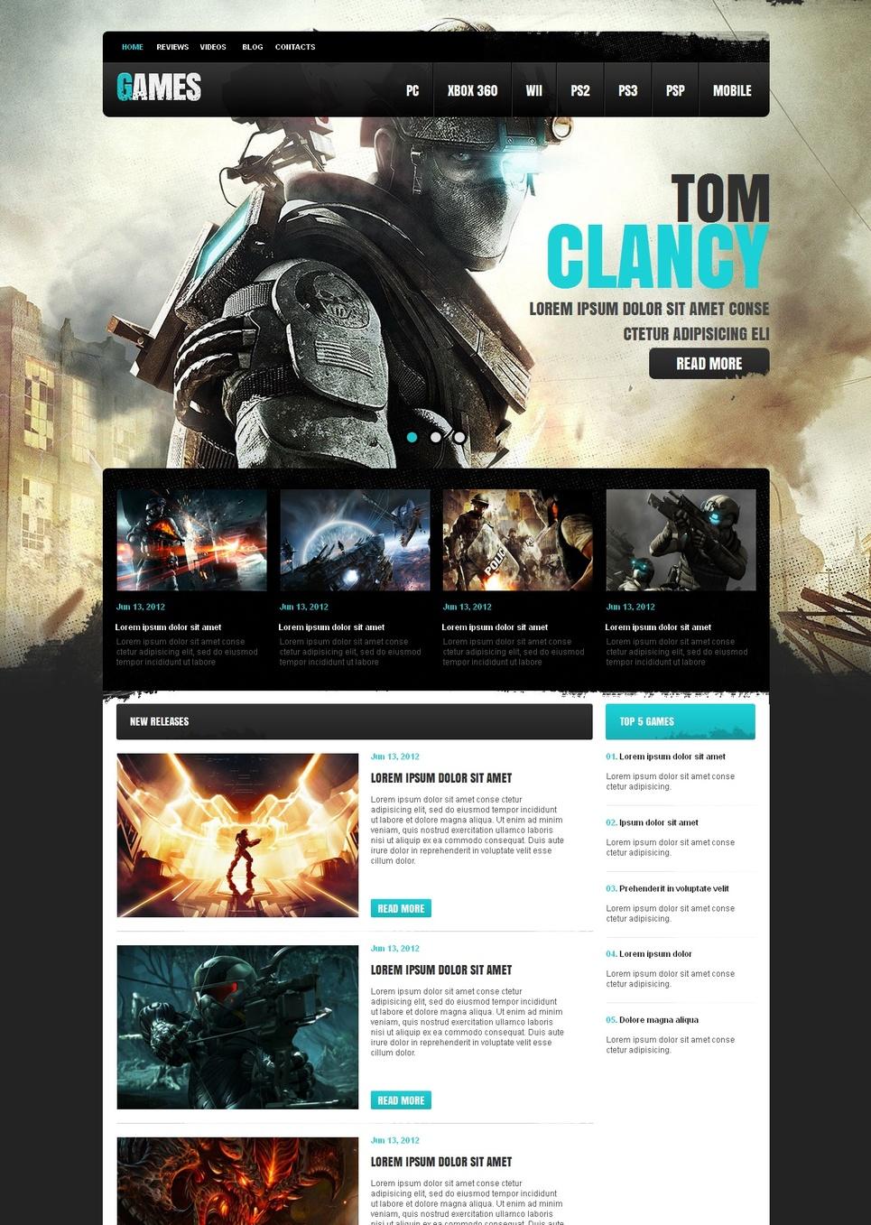 MotoCMS HTML Vorlage #41450 aus der Kategorie Spiele - image