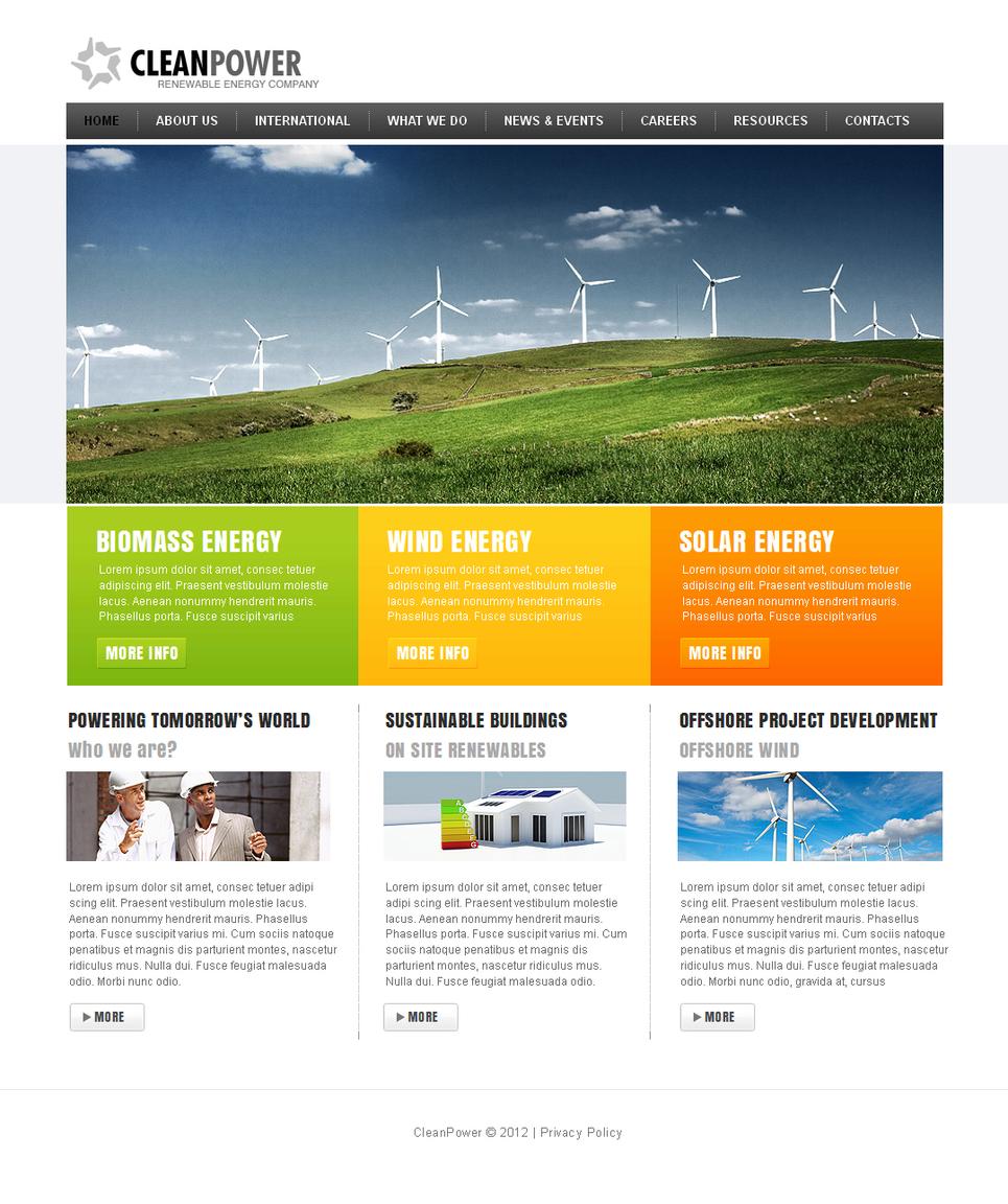 Alternative Power Website Template with a Horizontal Menu Bar - image