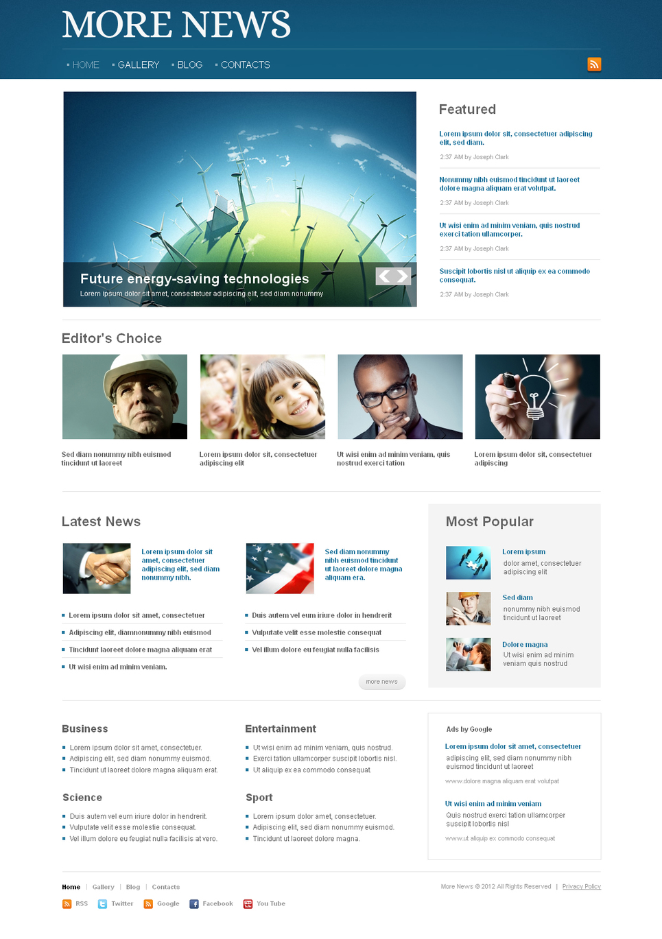 MotoCMS HTML Шаблон #41456 из категории Медиа - image