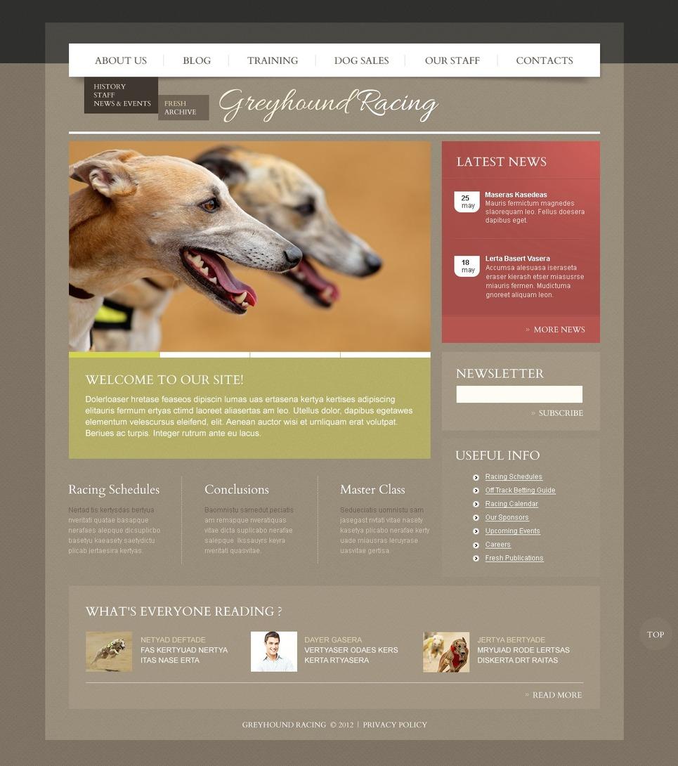 Greenhound racing - Ultimate Responsive Dogs WordPress Theme