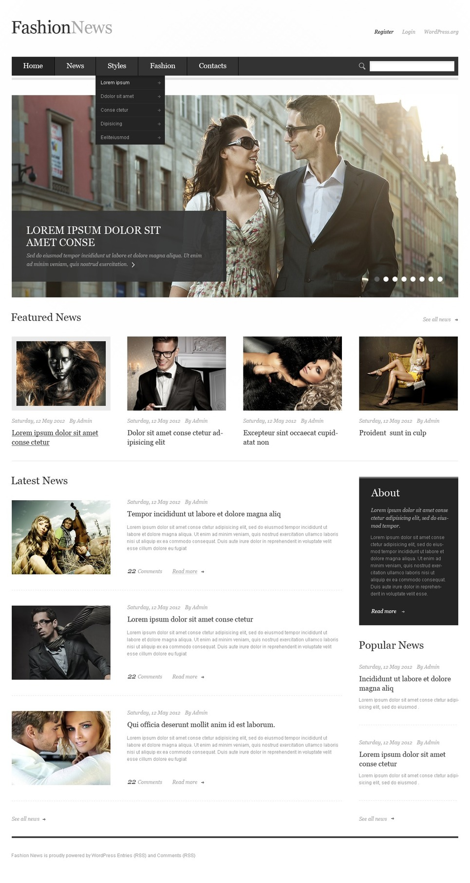 Fashion Responsive WordPress Theme New Screenshots BIG
