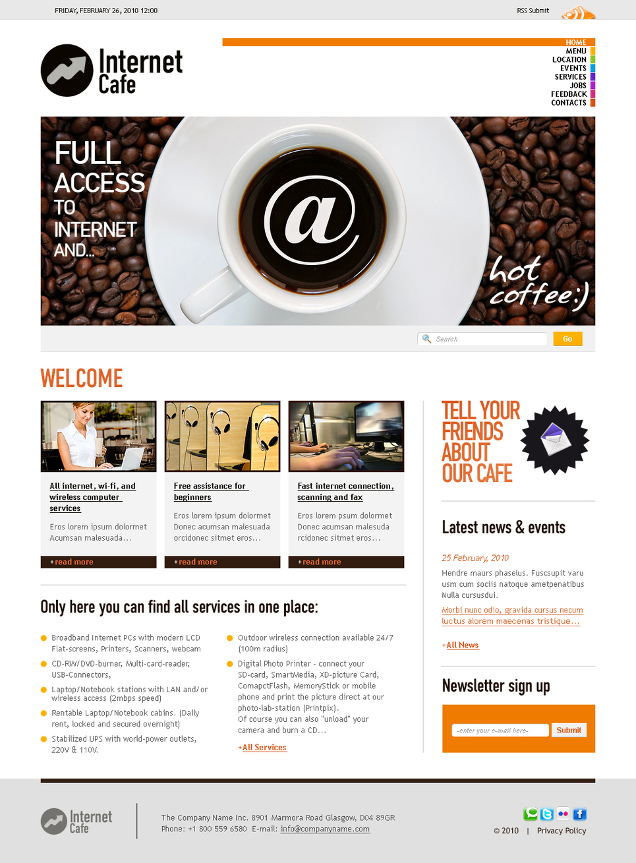 Internet Cafe Website Template - image