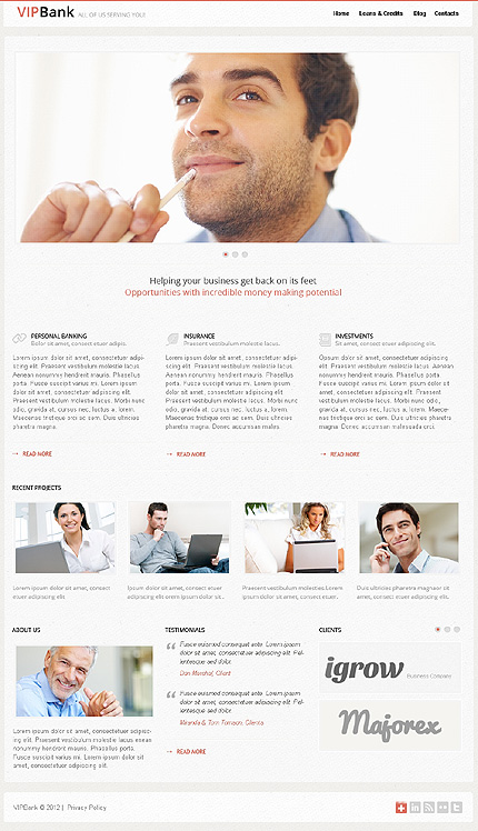 VIP bank - Best Responsive Bank WordPress Theme