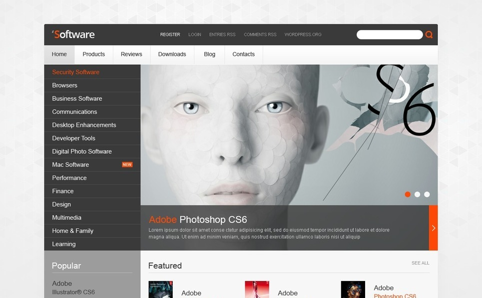 Software Company WordPress Theme New Screenshots BIG