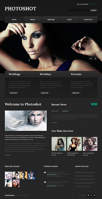 Photoshot - Best Photographer Portfolio WordPress Theme