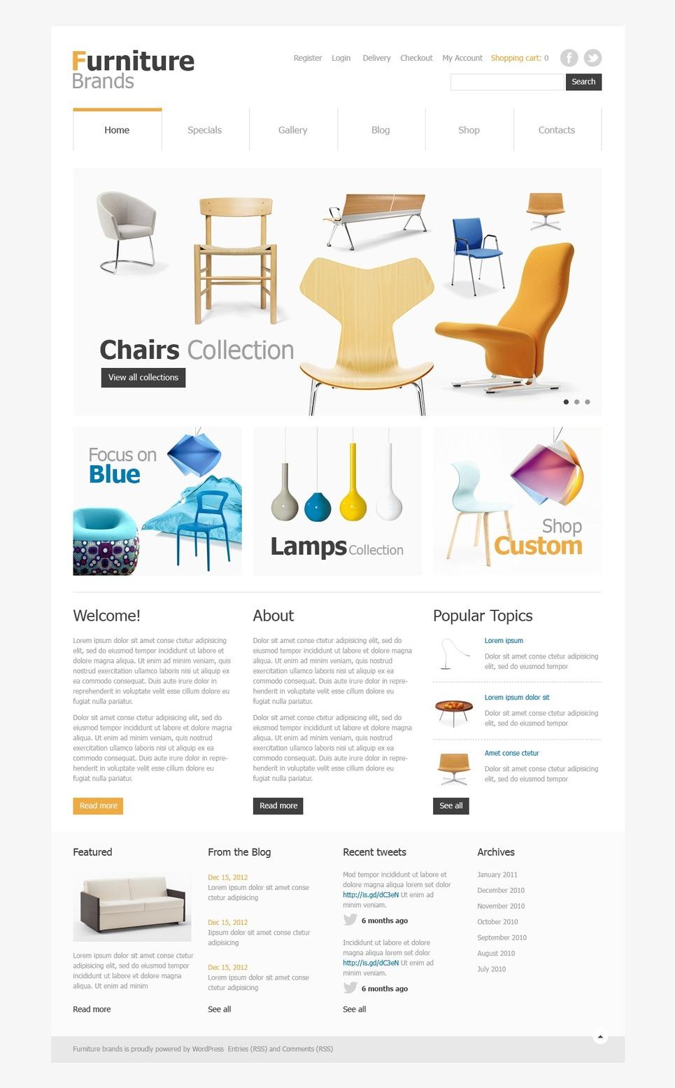 Best Furniture brands JigoShop Theme