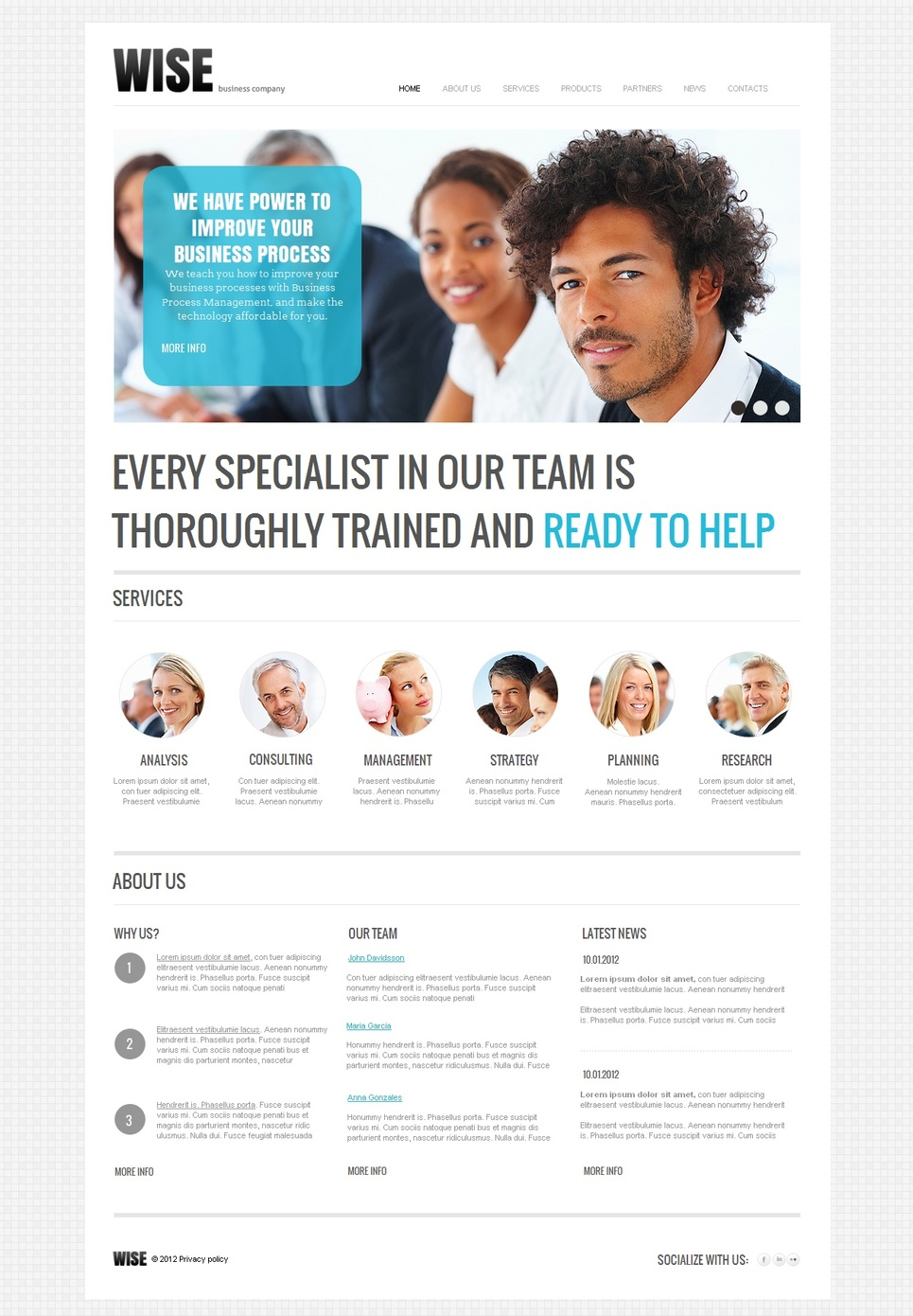 Simple Website Template for Business Companies - image