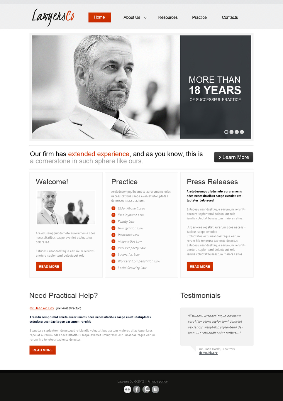 Minimalist Website Template for Lawyers Groups - image