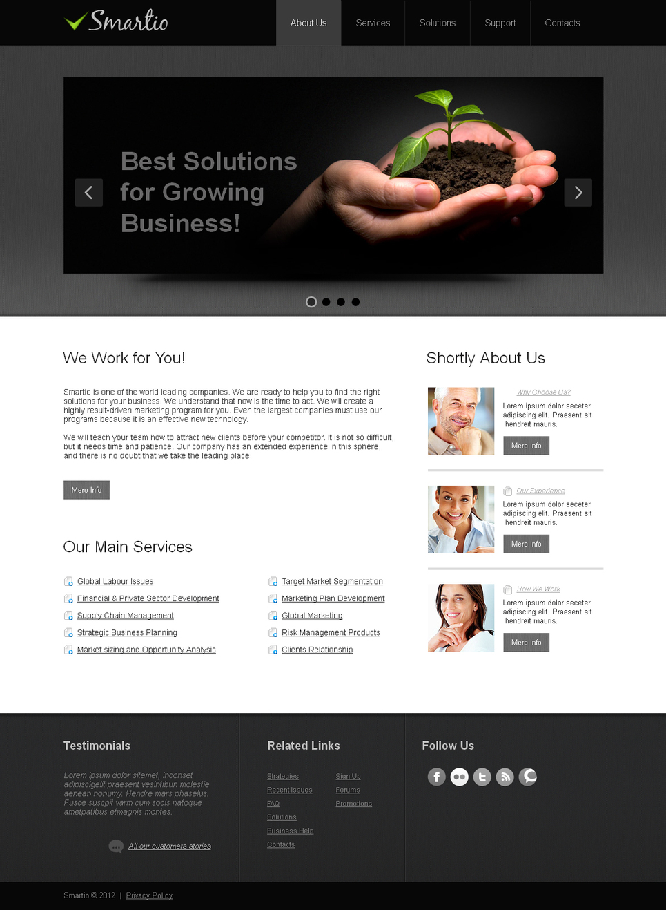 Business Web Template with Dark jQuery Slider - image