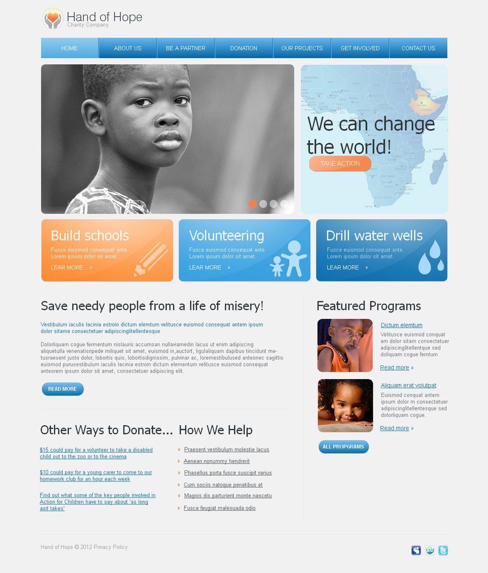 Charity Website Template for Nonprofit Organizations - image