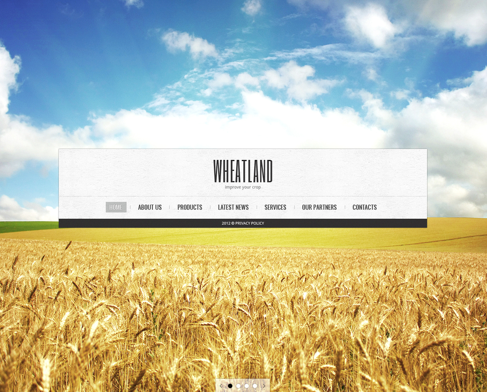 Farming and Agriculture Template with Big Background Photo - image