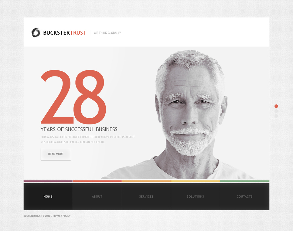 Business Website Template with a Lot of White Space - image