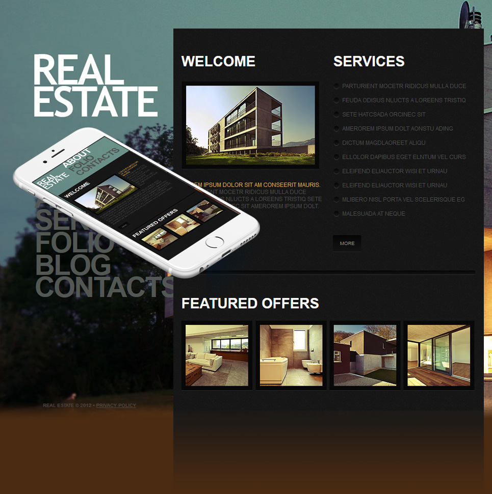 Real Estate Template with Background Images Rotation - image