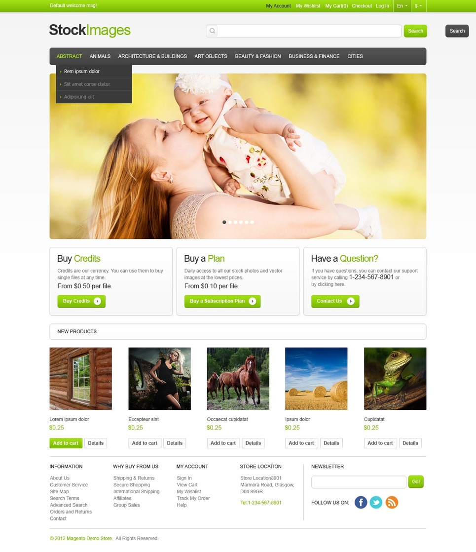 Delightful Stock Images Magento Theme