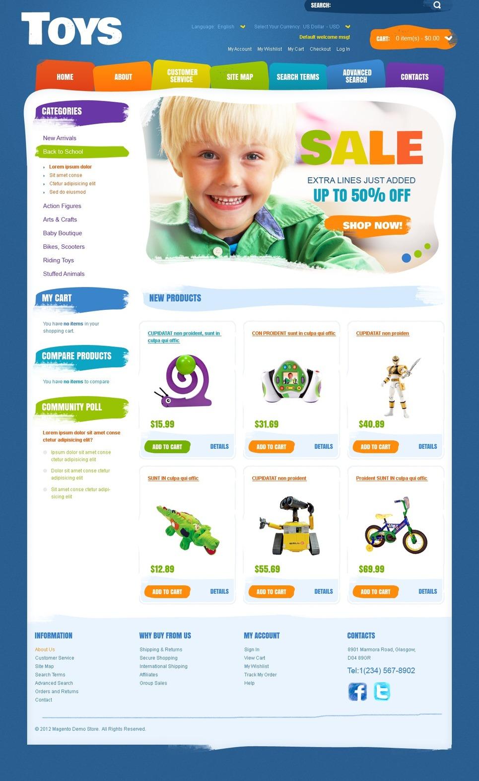 Wonderful Toys Online Magento Theme