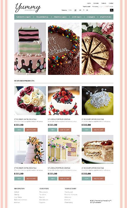 Yummy - Flavourful Sweet Shop PrestaShop Theme