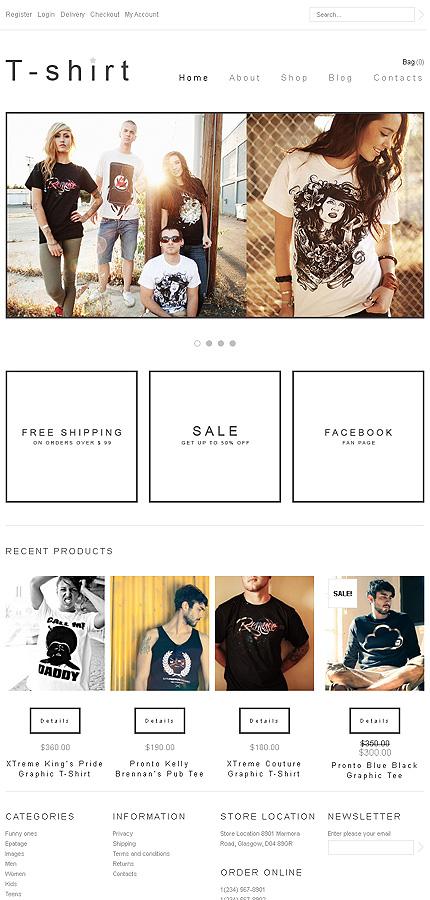 T-shirt - Excellent T-Shirts Store Jigoshop Theme