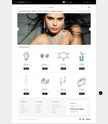 Shiny gems - Flashing Shiny Gems PrestaShop Theme