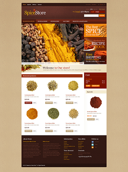 Spice Store - Astonishing Spices Store PrestaShop Theme