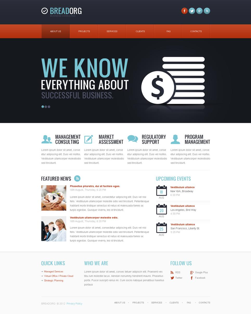 Business Template with Orange Navigation Menu - image