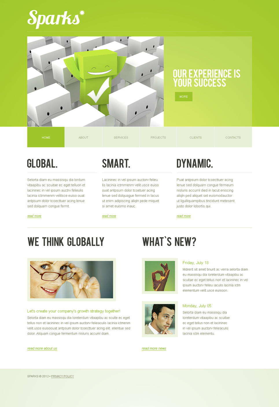Clean Business Template with Lime-Green Header - image