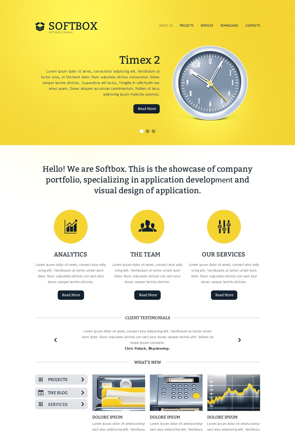 Clean Business Website Template in White and Yellow Colors - image
