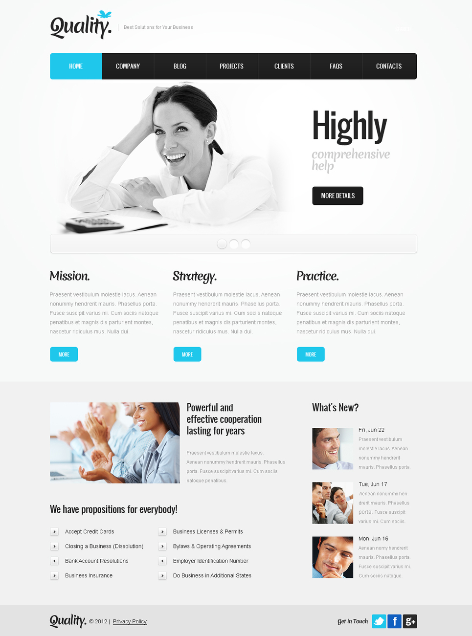 Clean White Template for Business Firms - image