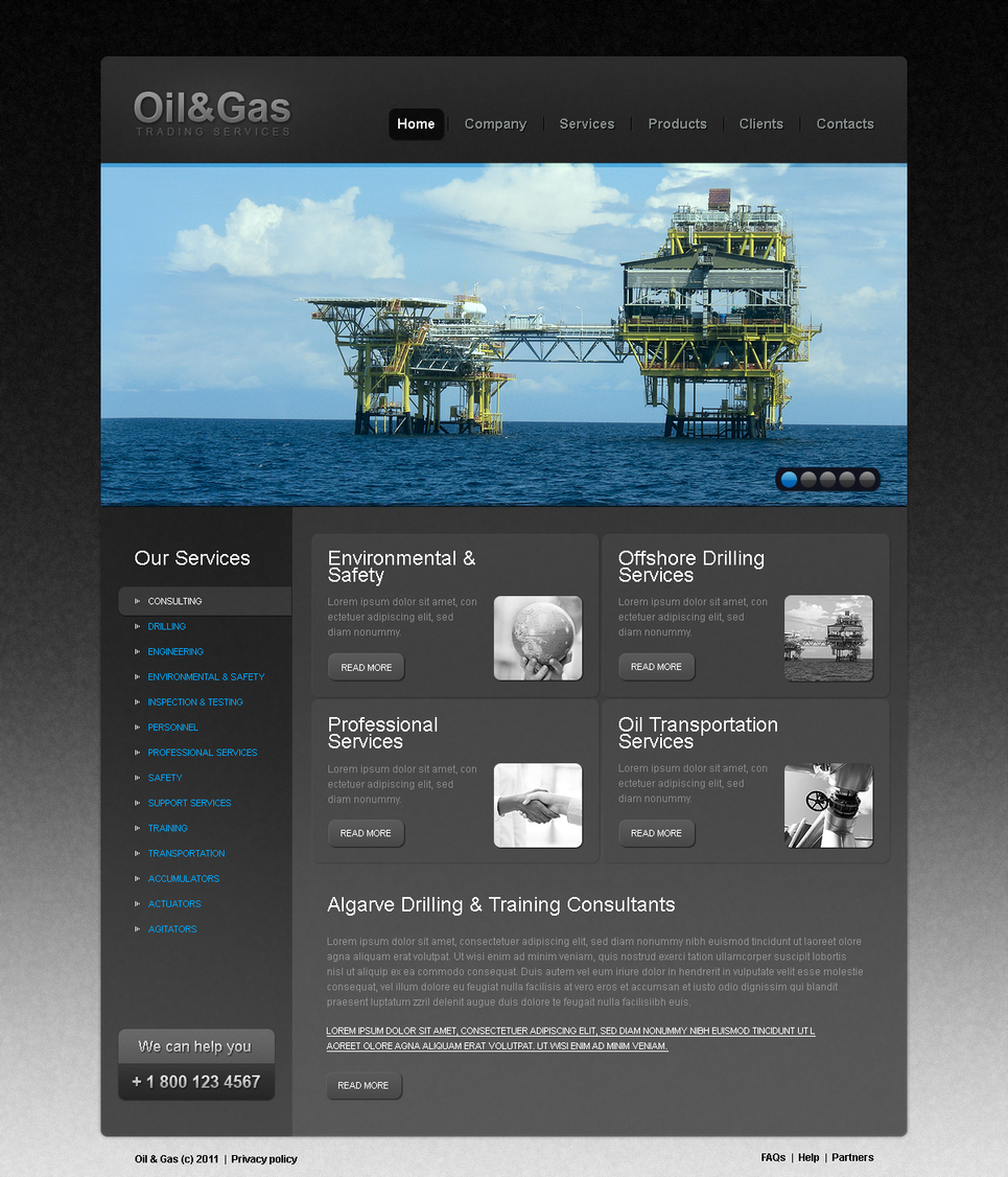 Oil And Gas Trading Company Website Template - image