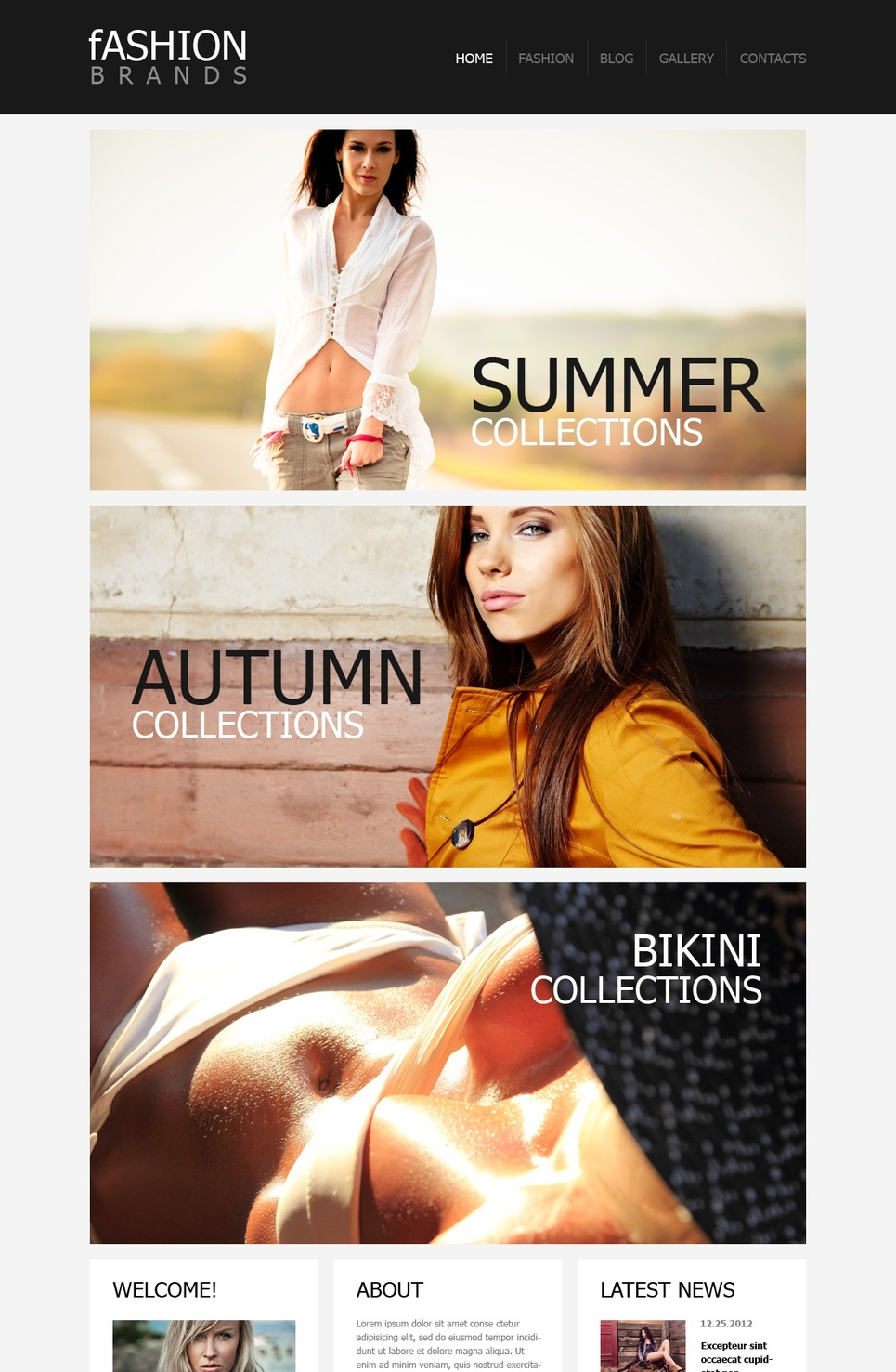 Fashion Brands Template with a Wide Imagery Use - image
