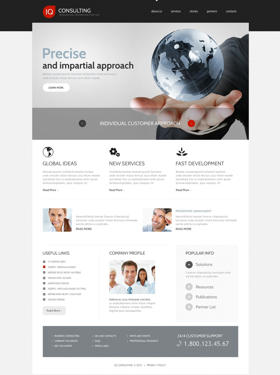 Business Website Template with Transparency Effect in jQuery Slider - image