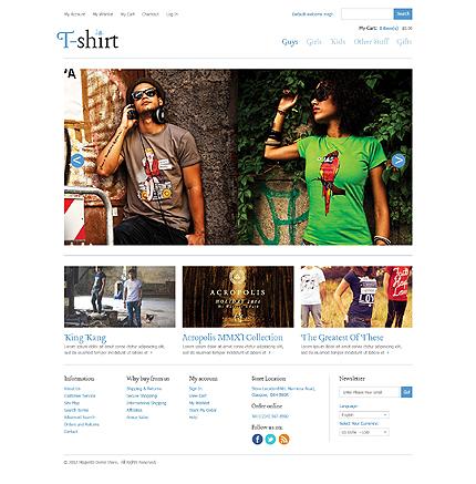 T shirt - Creative T-shirt Shop Magento Theme