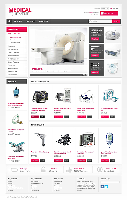 Medical equipment - Perfect Medical Equipment PrestaShop Theme