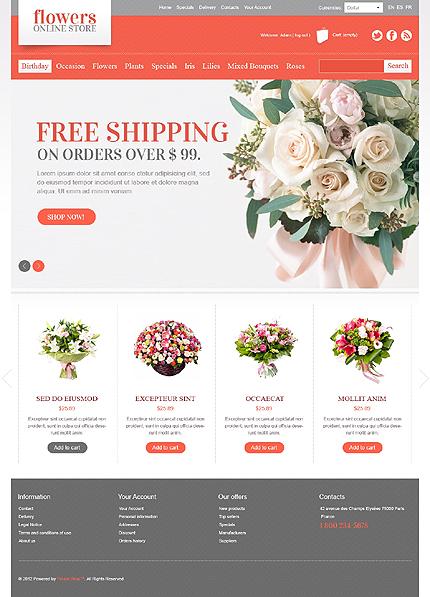 Flower stores online - Pleasant Flower Store PrestaShop Theme