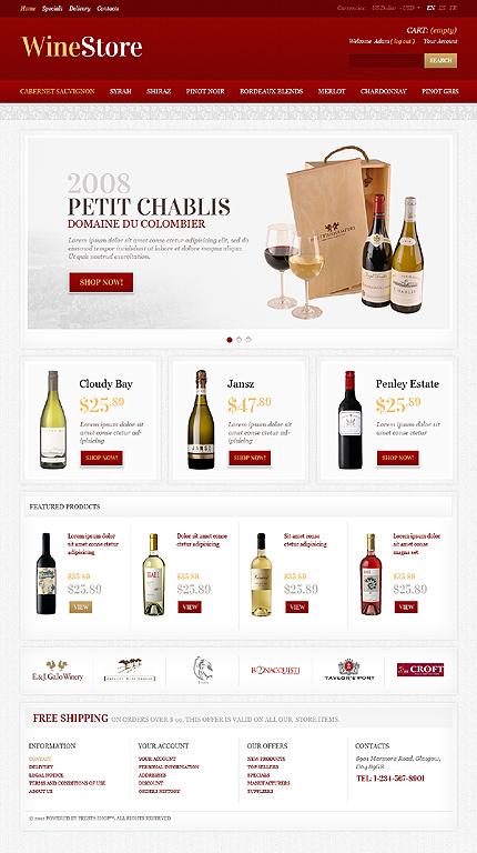 Petit Chablis wine stores - Elegant WineShop PrestaShop Theme