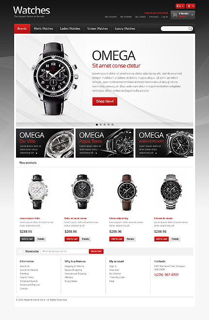 Watches - Smashing Watches Store Magento Theme