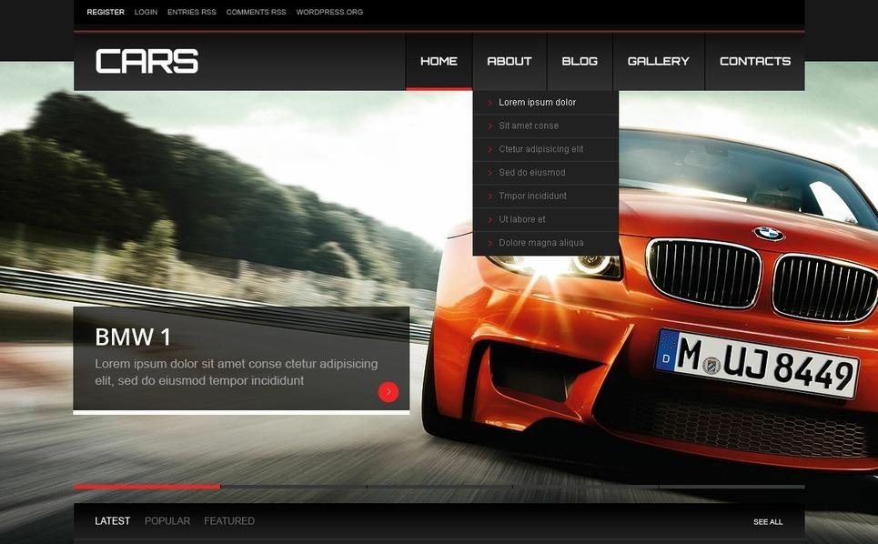 Car Responsive WordPress Theme New Screenshots BIG